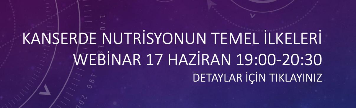 KANSERDE NUTRİSYONUN TEMEL İLKELERİ